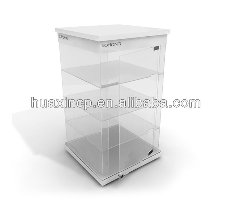 Clear watch jewelry display cabinet for shop and trade show