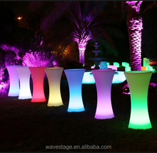 Party Events color change LED Cocktail Poseur Tables