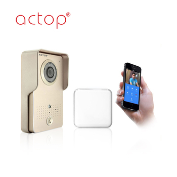 ACTOP Waterproof photo memory wireless ip video door bell system