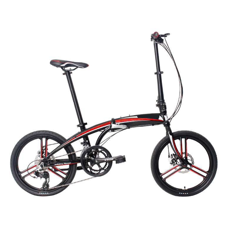 20 inch wheel size integrated wheels aluminum frame folding bike with disc brake