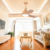 Decorative factory supply wood color reverse dc ceiling fan with led light