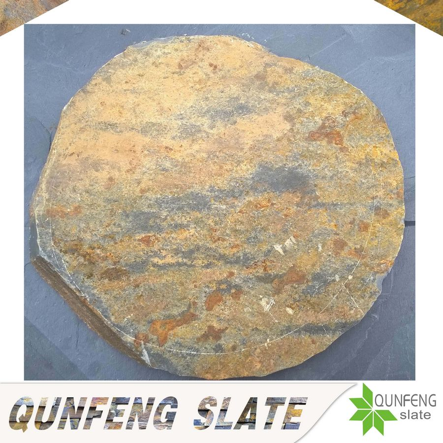 natural rusty slate tile round decorative garden stepping stones
