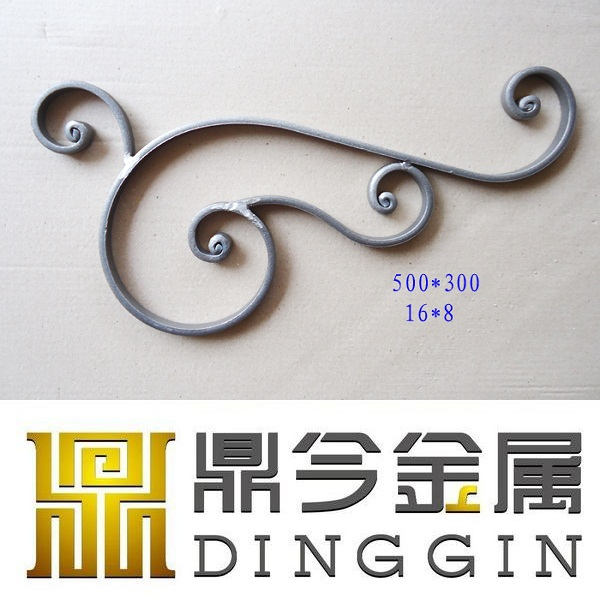 various shape wrought iron decoration used in outdoor fence