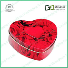 heart cookie cracker tin box for biscuit metal container