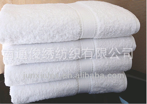 wholesale customized 100% cotton white manufactures supplier in China of bath towel