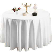 600401 fancy white wedding party round 132 polyester table cloth heat resistant wedding