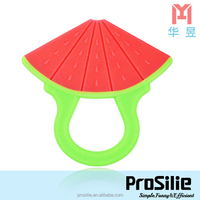 Prosilie silicone baby cute teether BPA Free with fruit shape