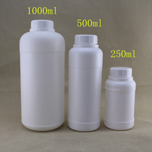 HDPE 1 litre plastic bottles with screw tamper ring cap