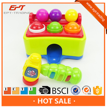 Funny electric intelligent hammer ball table game toys with music