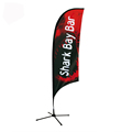 Custom Cheap Printed Outdoor Advertising Feather Fla swooper feather flag with feather flag pole