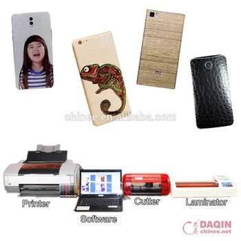 Mobile case UV printer and sticker skin for phone accessories business