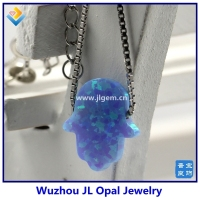 Synthetic Light Blue OP06 Hamsa Hand
