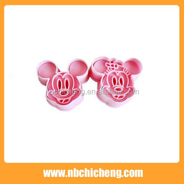 Plástico Mickey Mouse cookie Cutter cake cookie Cutter herramienta