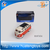 MZ toys metal diecast car model 1:24 scale alloy material bus shape design with light and music