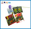 wholesale dry fruit/vegetable package zipper bag with one side clear/transparet