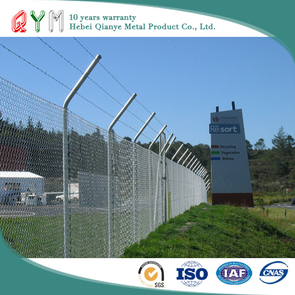 Hot dippped galvanized or PVC coated QYM-Airport