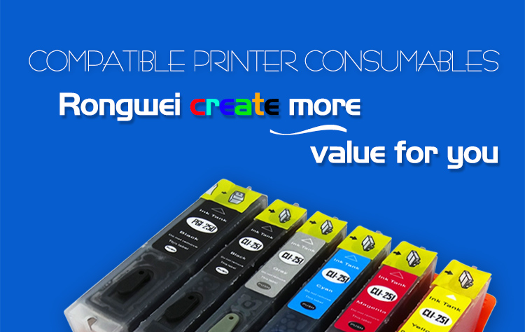 compatible ink cartridge for Epson, Canon, Brother, HP etc.
