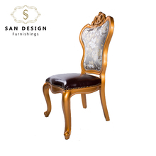 China wholesale cheap luxury restaurant wooden dining chair
