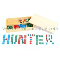 Stamp Game Montessori toy of educational material