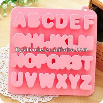 Funny Pink Letter Shape Ice Pop Mold, FDA & LFGB