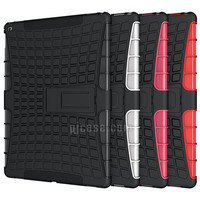 Heavy duty hybrid combo kickstand tablet case cover for Apple ipad pro 12.9 inch