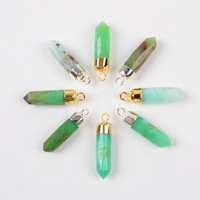 G1377/S1377 New Arrival genuine Australia Jade Spike Pendant charms for jewelry making