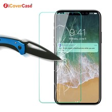 Front Tempered Glass Film Anti-Explosion 9H 0.3mm Cell Phone Screen Protector for iPhone X