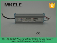 FS-120-24high quality CE approved Constant Voltage Rainproof 24v dc input led driver, industrial 120w led switch power supply
