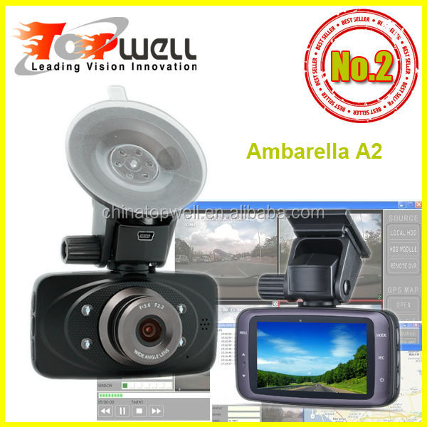 2014 New Ambarella A2 chip 2.7'' Screen 30 fps H.264 1080P Full HD Night Vision car driving recorder,with or w/o GPS
