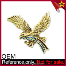 Custom made rhinestone bling crystal eagle superman charm