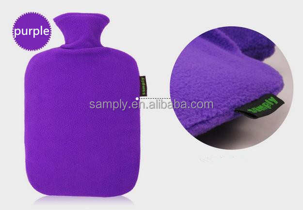 PVC hot water bottle/bag ice bag therapy with fleece cover