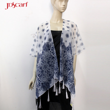 Fancy piano summer evening wear shawl for women with sleeves
