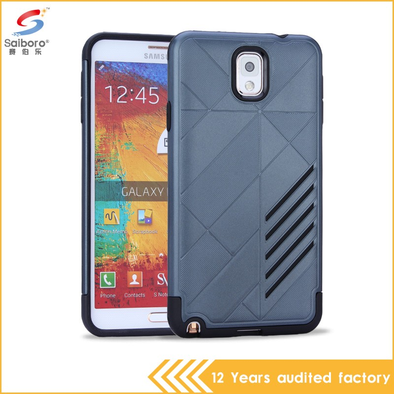Heavy Duty Shockproof customized back phone cover for galaxy note 3
