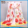 burnt orange and yellow printed Korean-style chiffon Hot-selling Scarf and 1.00
