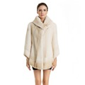 QD70708 Fashionable Winter Women Danish Mink Coat with Adjustable Collar