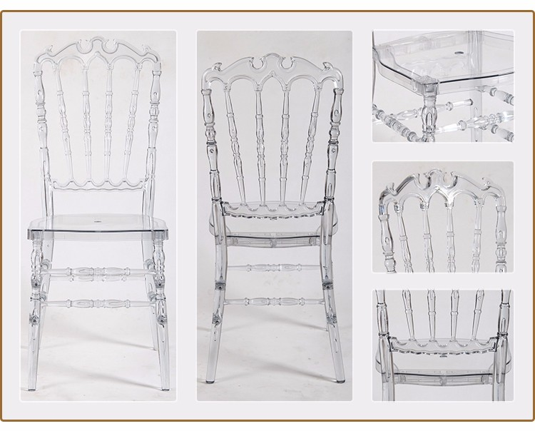 China Wholesale Big Size Polycarbonate Resin Royal Chiavari Chairs Golden