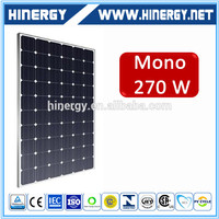 high efficiency mono solar panel 270w monocrystalline 270w paneles solares fotovoltaicos for solar energy system