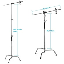 3M Pro Photo Studio 10ft Heavy Duty C Stand Boom Light Stand boom arm 20kg load C-Stand