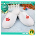 Coral Velvet Hotel Slippers / Soft White Fleece Bathroom Slippers / Breathable Personalized Logo EVA Indoor Slippers