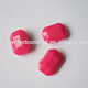 wholesale 10*14mm opaque rose pink point back rectangle acrylic stones for bags clothes