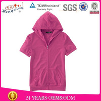 Fashion hooded o neck t-shirts for girls