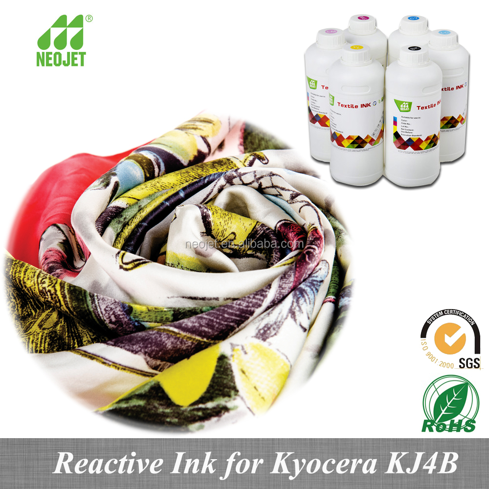 premium color stable bulk inkjet reactive ink for KJ4B kcyocera head textile machinery liquid ink manufacture china best dye ink