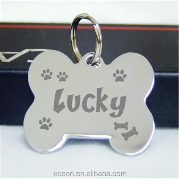 Yiwu Aceon Promotional Fat Bone Engraved Pet ID Tags Stainless Steel Dog tag Cat Custom Name Charm Tags