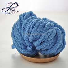 Super Thick Chunky 100% Polyester Soft Vegan Jumbo Yarn For Hand Knitting Blankets 100% Chenille yarn