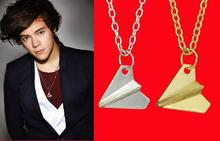 One Direction 1D Harry styles Paper Airplane Gold/Silver pendant Fashion Necklace