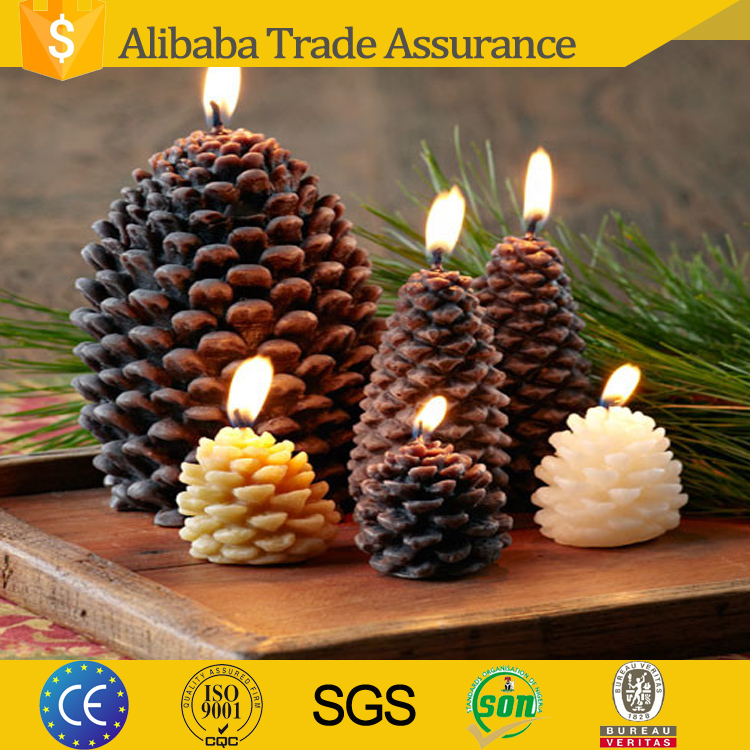China candle manufacturer supply good quality Pine cone candle for decoration