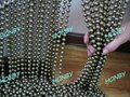Hot selling! Antique Brass Bead Chain Curtain