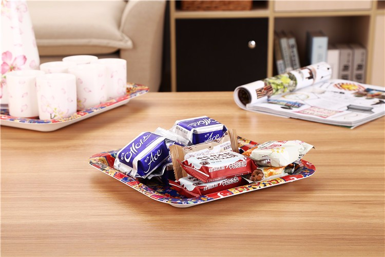 Pro-environment Plastic Square Beautiful Trays