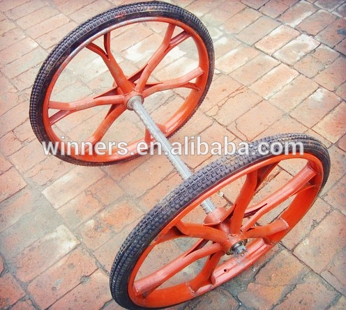 26 inch horse cart wheels with steal spoke