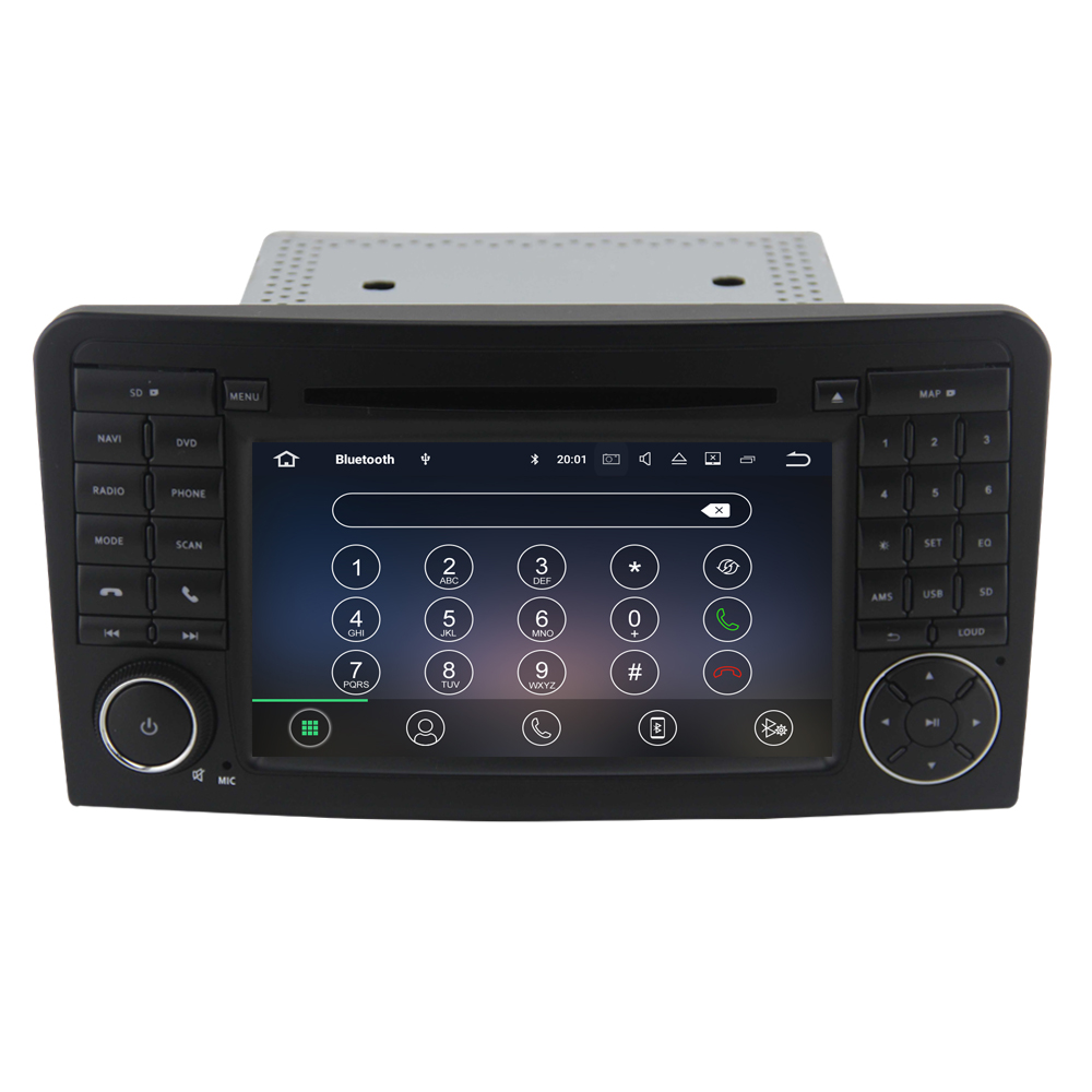 PX5 Octa core android 10 car gps navigation system for Mercedes Benz ML CLASS <strong>W164</strong> ML300 ML350 ML450 ML500 with radio DSP DAB